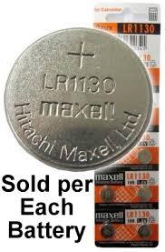 Maxell Batteries Lr1130 189 Lr54 Ag10 Alkaline Button