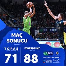 Tofaş Fenerbahçe Maç Sonucu
