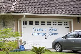 painting garage doorCreating A Faux Carriage Garage Door  Pinterest Addict