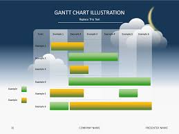 power point gant chart powerpoint slide templates gantt chart illustration night day