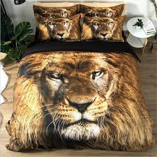 lion king animal print bedding set twin queen size duvet cover bed and matching curtains