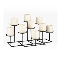 boston loft furnishings 9 candle elear matte black metal candelabra candle holder