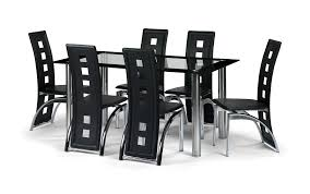 glass dining room table with leather chairs. stupendous impressive papario black 6 piece corner dining set large round walnut chairs ideas: glass room table with leather