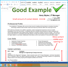 example of good cv layout 7 cv format tips that will get you more interviews