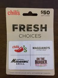 chili s restaurant group giftcard 1 of 1 see more