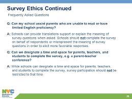School Survey Questions For Parents Agenda Survey Refresher Key Dates And Logistics Ethics Ppt Video