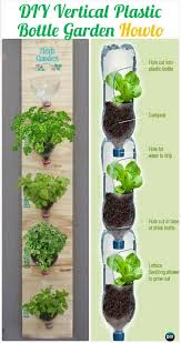 diy vertival wall plastic bottle garden instructions diy plastic bottle garden projects ideas