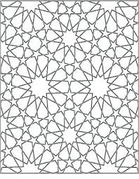 Art Coloring Pages Islamic Geometric Patterns Wiegraefeco