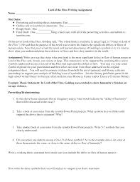 lord of the flies essay outline essays on lord of the flies