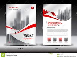 Magazine Newsletter Design Annual Report Brochure Flyer Template Red Cover Design