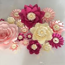 Paper Flower Backdrop Garland Giant Paper Flowers Leaves Wall Wedding Wall Arc Paper Flower