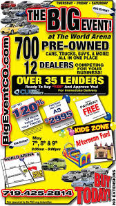 get a pre owned vehicle at the big event sponsored by phil long dealerships
