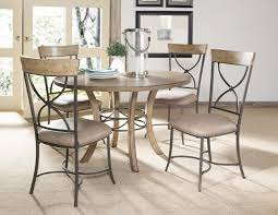 charleston round metal ring dining table with wood top desert tan finish