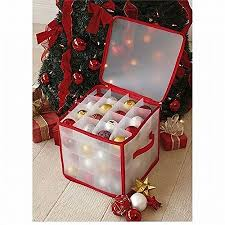 Christmas Decorations Storage Box CHRISTMAS TREE 100 BAUBLE DECORATIONS STORAGE BOX BRAND NEW By TJM 12