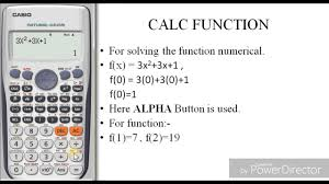 how to solve function by using calculator casio fx 991 es plus the calculator king