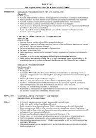 Rehabilitation Technician Resume Samples Velvet Jobs