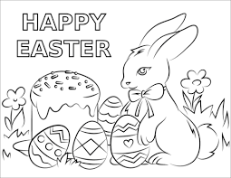 Happy Easter Coloring Pages 29014 Icce Unescoorg
