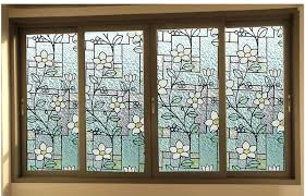 elegant colourful 2d printed static cling window stained glass within designs 13