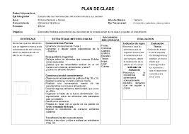 planeamiento de clases plan de clase