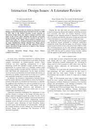 Interdisciplinary Interaction Design Pdf Pdf Interaction Design Issues A Literature Review