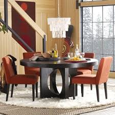 modern round dining table for 6 photo 1