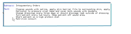 Wound Charting Examples Notes