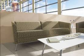 contemporary sofa leather steel for public buildings wind global totaloffice