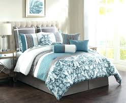 light blue and white comforters comforter queen gray brown bedding