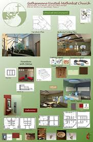 The following are a few images of the student work in interior design on  display at the Ball State Indianapolis Center.
