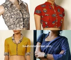 Collar Style Neck Design Collared Saree Blouses For The Win Kalamkari Blouse