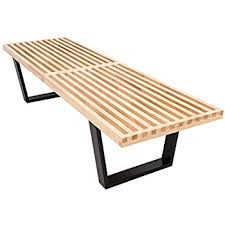 george nelson bench. LeisureMod Mid-Century George Nelson Style Platform Bench In 5 Feet (Natural Wood) Amazon.com