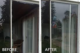 glass repair installation in