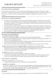 Army Resume Sample