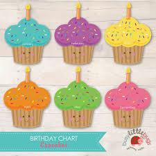 Sparklebox Birthday Charts Cupcake Birthday Chart Template Radiofixer Tk