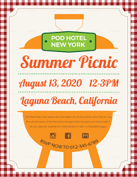 Picnic Flyers Summer Picnic Flyer Design Template In Psd Word Publisher