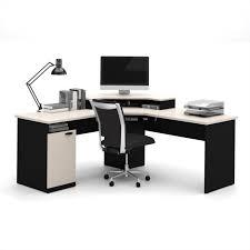 home office corner computer desk. Bestar Hampton Corner Computer Desk In Sand Granite \u0026 Charcoal Home Office