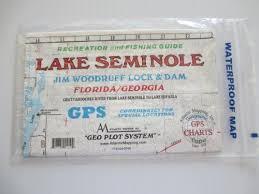 Fishing Charts Mapping Gps Coordinates Lake Seminole Flordiageorgia Geographic Recrestion And