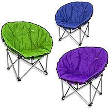 green summit orca cing chair with carry bag bucket moon style padded fold away for
