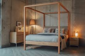 modern four poster bed.  Four Highland Upholstered 4 Poster Bed For Modern Four O