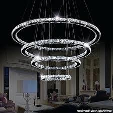 flush mount crystal chandelier four led crystal chandelier 4 rings modern flush mount crystal ceiling light