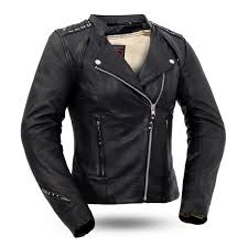 Womens Black Widow Leather Motorcycle Jacket