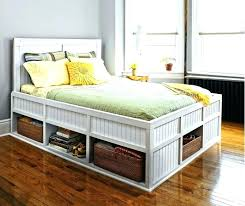 Platform Bed With Storage Underneath Plans Queen Size Bed With ...