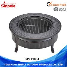 china 3 feet round outdoor fire pit table grill with mesh cover china round fire pit fire pit table