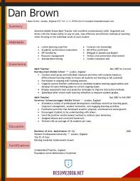 Resumes Sample Teaching Resume Teacher Example Elementary With No