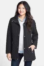 image of calvin klein hooded quilted jacket
