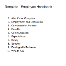 Sample Employee Handbooks Note Templates For Company Wide Information Evernote Help