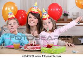 Child S Birthday Party Childs Birthday Party Stock Photo K8840569 Fotosearch
