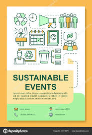 Sustainable Print Design Sustainable Event Poster Template Layout Environment