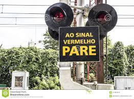 Sao Paulo Red Light Railway Cross Stock Photo Image Of Light Brazilian 112862610