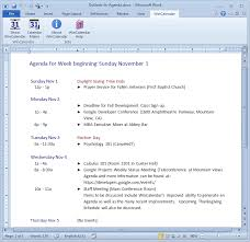 Outlook Agenda Template Convert Outlook Calendar To Excel And Word